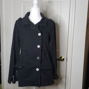 Hurley Black Coat Size Medium